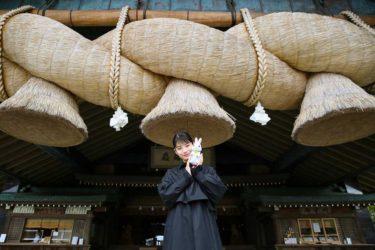 アニメ映画『神在月のこども』、主人公・カンナ役の「蒔田彩珠」が美保神社と出雲大社にヒット祈願
